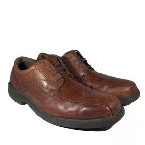 Rockport Style Leader Oxfords Bicycle Toe Leather